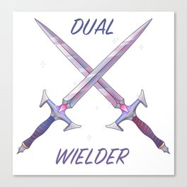 Dual Wielder Canvas Print