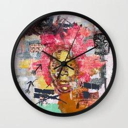 Jean-Michel Basquiat Portrait Wall Clock