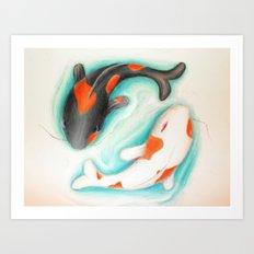 Coy Fish (Yin & Yang) Art Print