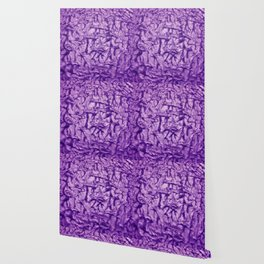 Purple Waves and Ripples Textured Wavelet Paint Art Wallpaper