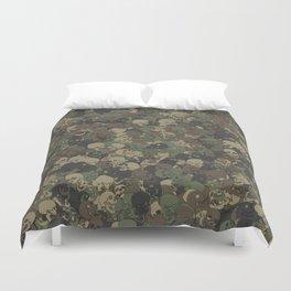 Skull camouflage Duvet Cover