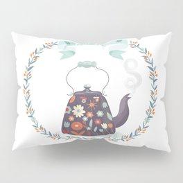 Tea Time Floral Tea Kettle Pillow Sham