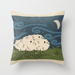 Three Sheeps to the Wind Throw Pillow