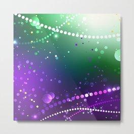 Festive Purple Background ( Mardi Gras ) Metal Print