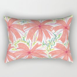 Tropical Sunburst Flowers Rectangular Pillow