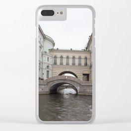 Hermitage Bridge Clear iPhone Case