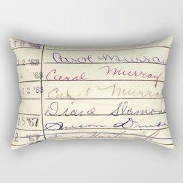 Library Card 780 The Wonderful World of Music Rectangular Pillow