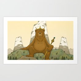 King Grizzly Art Print
