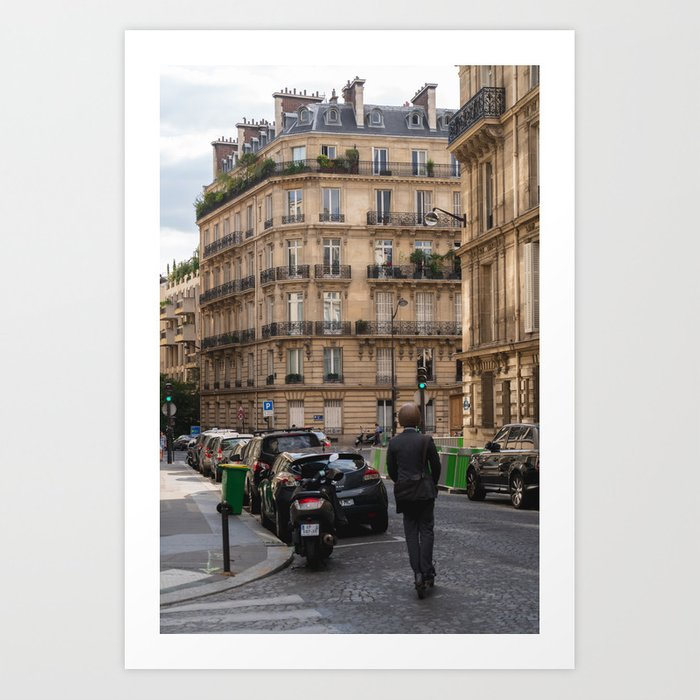 Scooter in Paris Art Print