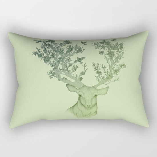 The Natural Progression? 1 of 3 in Green Rectangular Pillow