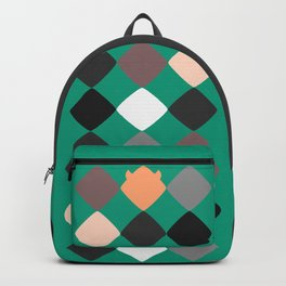 Turquoise touch of Geometric Rebelion Backpack
