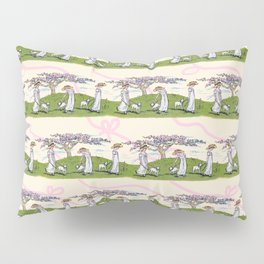 THE GIRL AND A LITTLE LAMB pattern  Pillow Sham