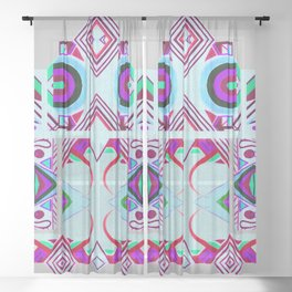 Mandalic Altar II Sheer Curtain