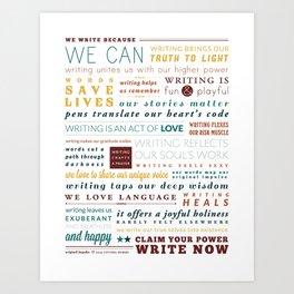 Writer's Manifesto from Original Impulse Art Print