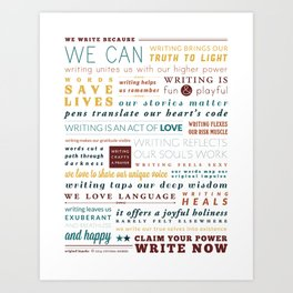 Writer's Manifesto from Original Impulse Art Print