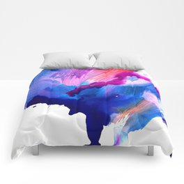 Danbury Abstract Watercolor Painting Comforters