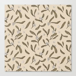 Mistletoe Pattern Canvas Print