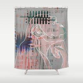 Monkey mind revolution Shower Curtain