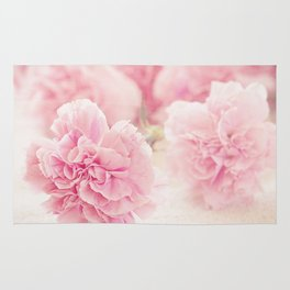 Pale Pink Carnations 2 Rug