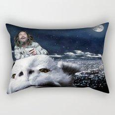 The Dude Rides Falcor Rectangular Pillow