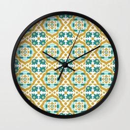 Italian Classic Motif 1 Seamless Pattern Wall Clock