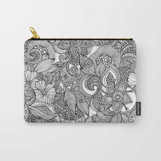 Flowers and doodles Carry-All Pouch