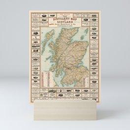 Whisky Map 1902 Mini Art Print