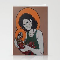 ripley Stationery Cards featuring holy ripley by Just Sprayed