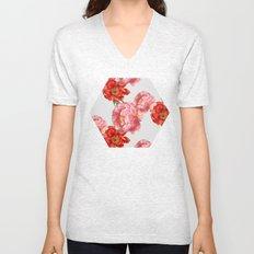 vintage floral Unisex V-Neck