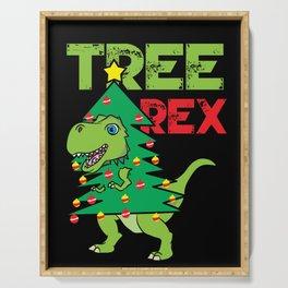 Tree Rex Christmas Dinosaur T-Rex Xmas Pun Funny Serving Tray