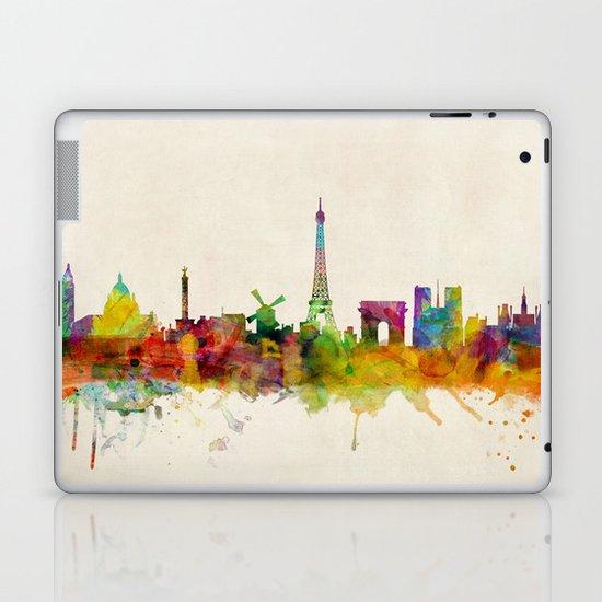 Paris Skyline Watercolor Laptop & iPad Skin