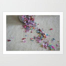 hashtag confetti Art Print