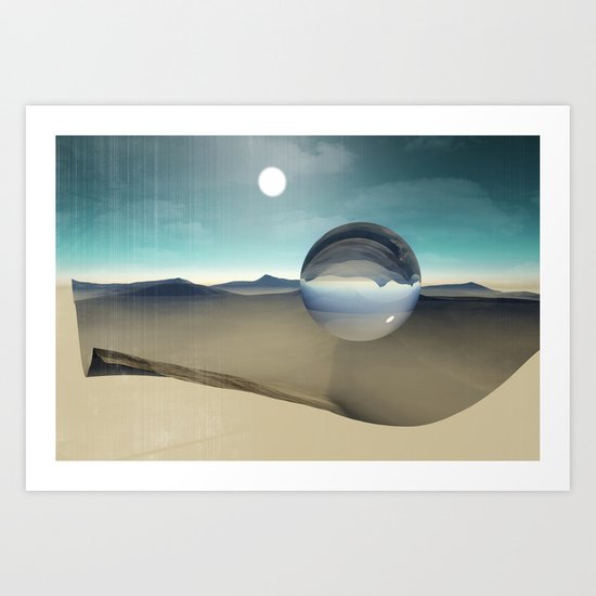desert sphere void Art Print