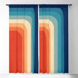Retro 70s Color Palette III Blackout Curtain