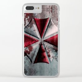 Umbrella with blood Clear iPhone Case