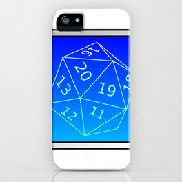 D20 Blue iPhone Case