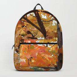 Orange Maple Tree Backpack