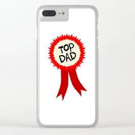 Top Dad Rosette Clear iPhone Case