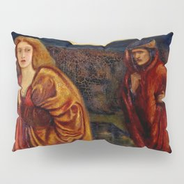 "Edward Burne-Jones ""Merlin and Nimue from Le Morte d'Arthur"" Pillow Sham"
