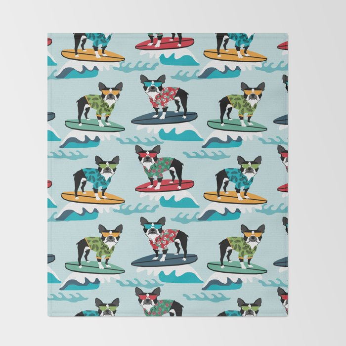 Boston Terrier Surfing Pattern Cute Pet Gifts Dog Lovers Boston