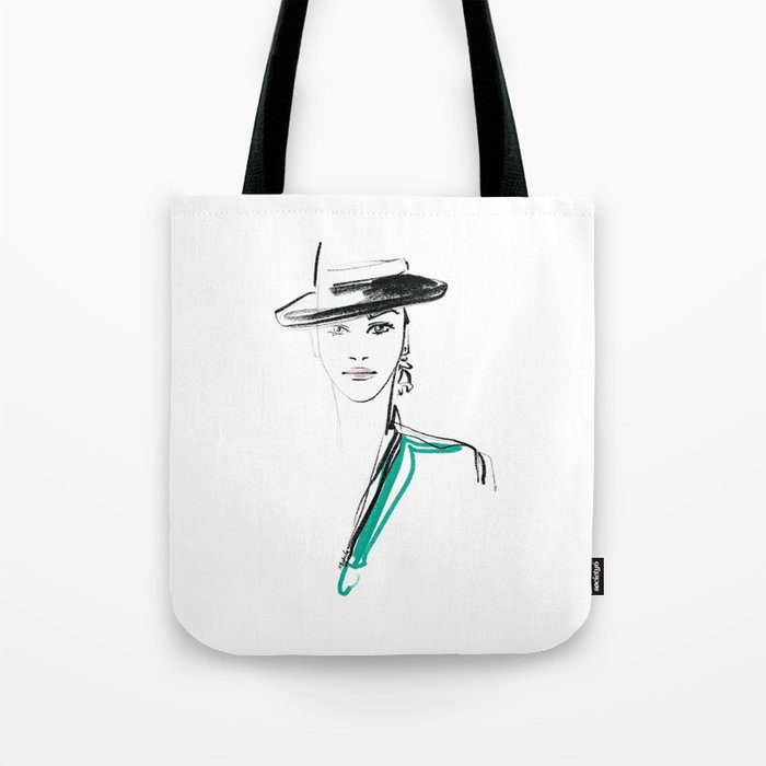 HAT LADY Tote Bag