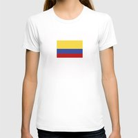 colombia T-shirts featuring colombia country flag by tony tudor
