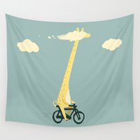 cloud Wall Tapestries featuring Head in the cloud by Picomodi