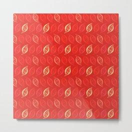 Scarlet ,delicate leaves Metal Print