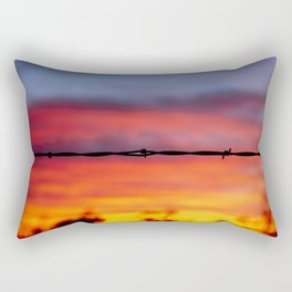 Tucson Arizona Barbed Wire Desert Sunset Rectangular Pillow