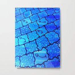 Abstract art, Fishing Net Metal Print