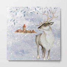 Christmas vintage deer #2 Metal Print