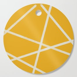 Happy Abstract Lines Cutting Board