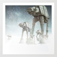 Starwars Imperial Walkers Art Print