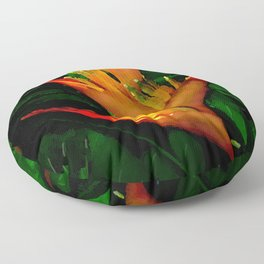 Hawaiian Heliconia at First Light Floor Pillow